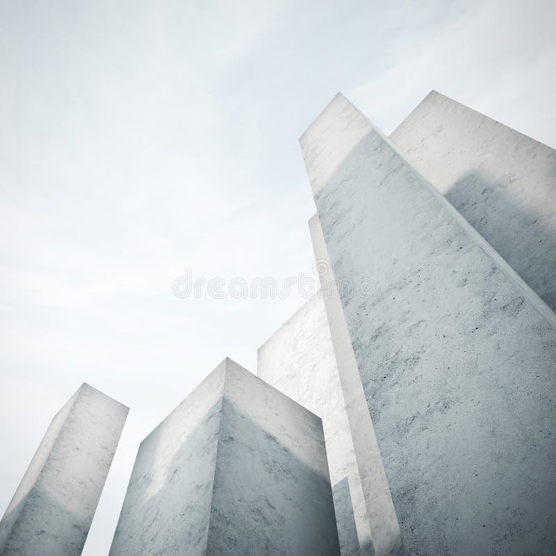 Abstraktes konkretes Modell einer Stadt lizenzfreie stockfotografie