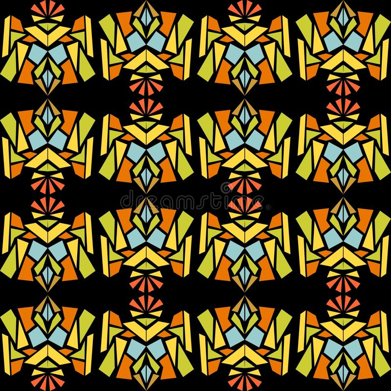 Abstraktes kontrastierendes Muster in der indischen Art stock abbildung