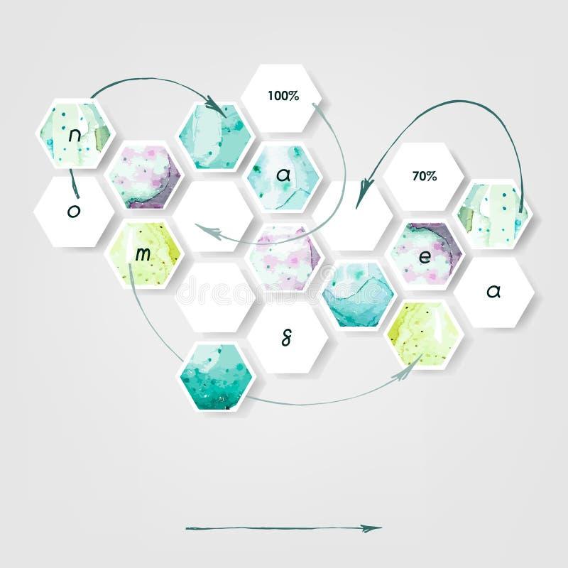 Abstraktes kreatives Konzeptvektor infographics Geschäft infographic und Social Media Vektor erläutertes Design vektor abbildung