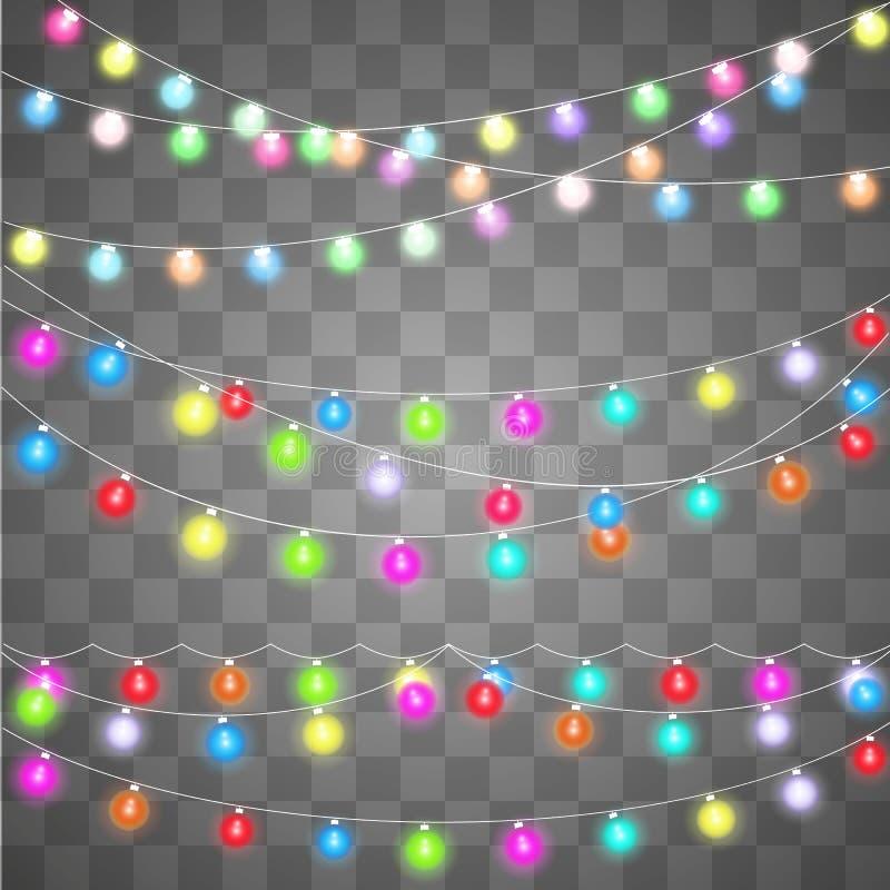 Abstraktes kreatives Weihnachtsgirlandenlicht vektor abbildung