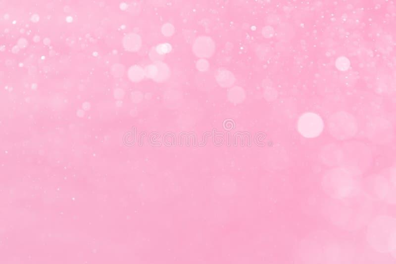 Abstraktes kreisförmiges rosa bokeh stockfotos