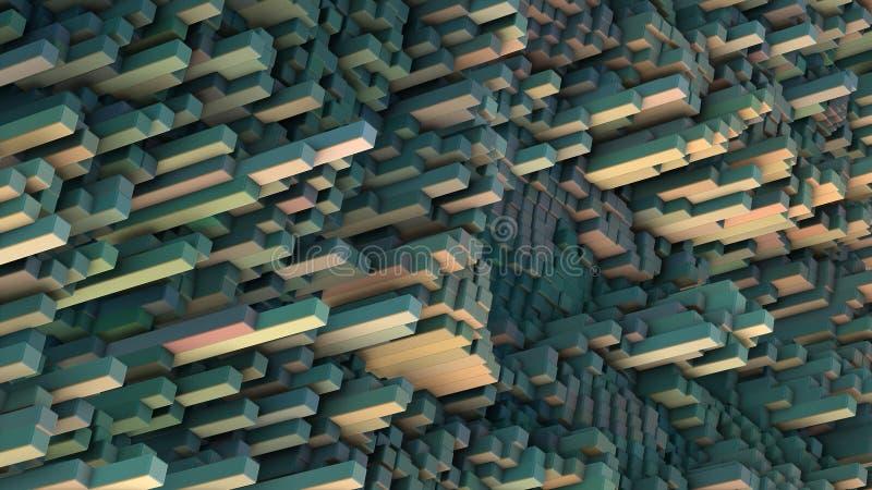 Abstraktes Kubik-3D ?bertrug Landschaft vektor abbildung