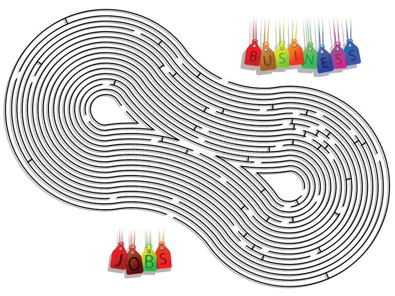 Abstraktes Labyrinth vektor abbildung
