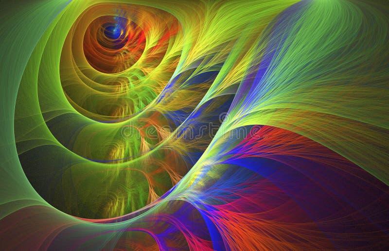 Abstraktes Labyrinth von Farben lizenzfreie abbildung
