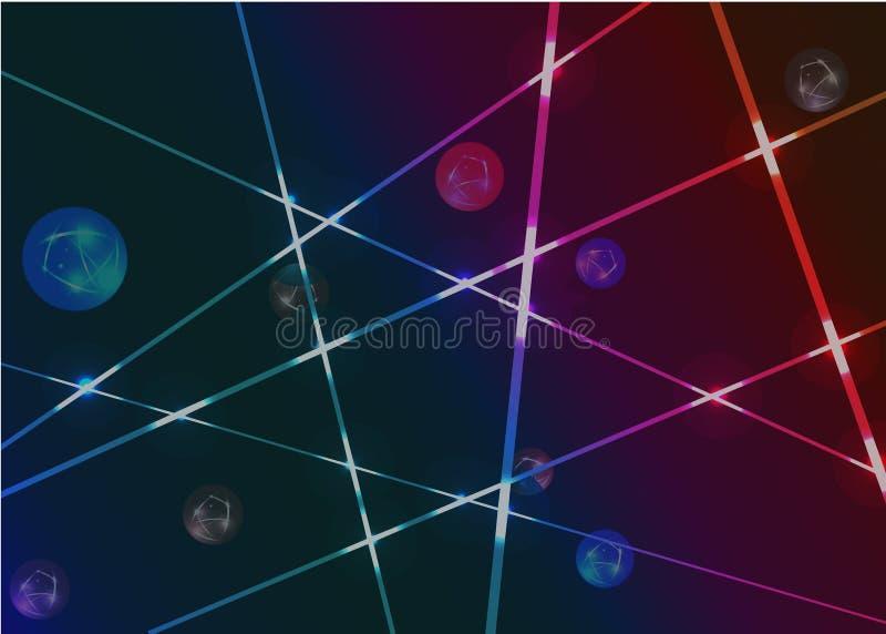 Abstraktes Laserlicht der Tapete im dunklen Hintergrund stockfoto