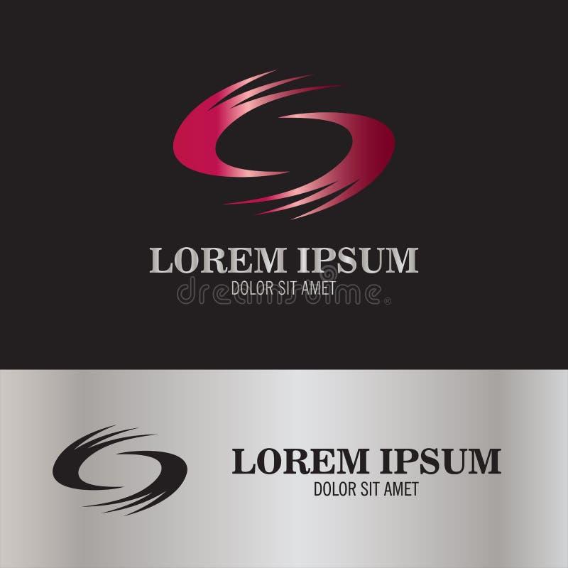 Abstraktes Logo der Drehbeschleunigung stock abbildung