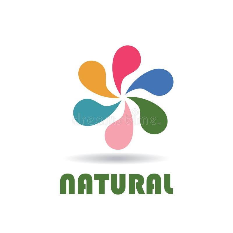 Abstraktes Logo für Unternehmen frech Farbvektorikone vektor abbildung