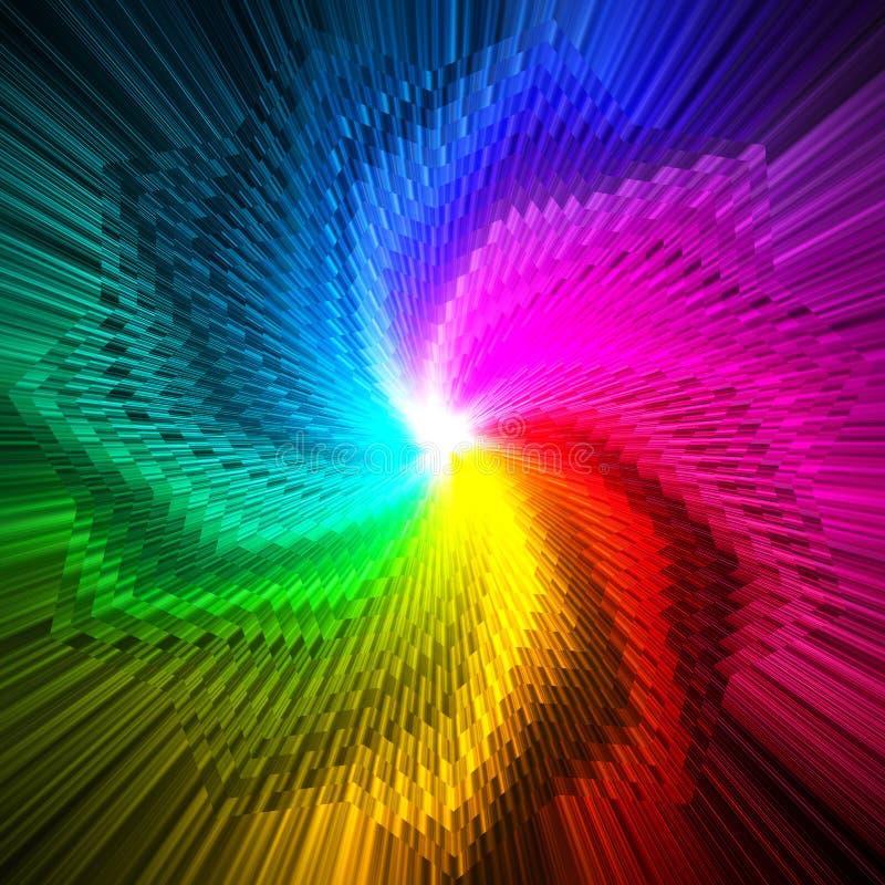 Abstraktes magisches Sternprisma färbt Hintergrund vektor abbildung