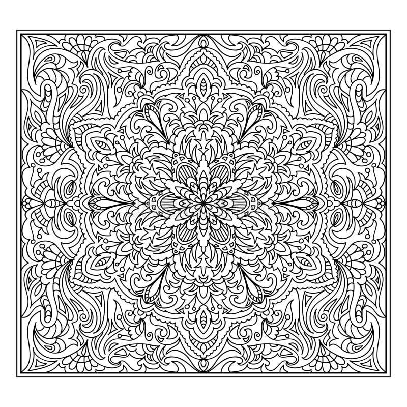 Abstraktes Mandala Zentangle Stock Abbildung - Illustration von ...