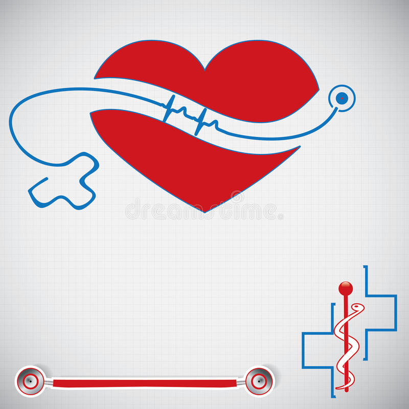Abstraktes medizinisches Kardiologie ekg vektor abbildung