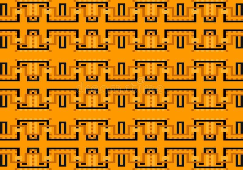Abstraktes mehrfarbiges geometrisches Muster Vector nahtloses Muster lizenzfreie abbildung