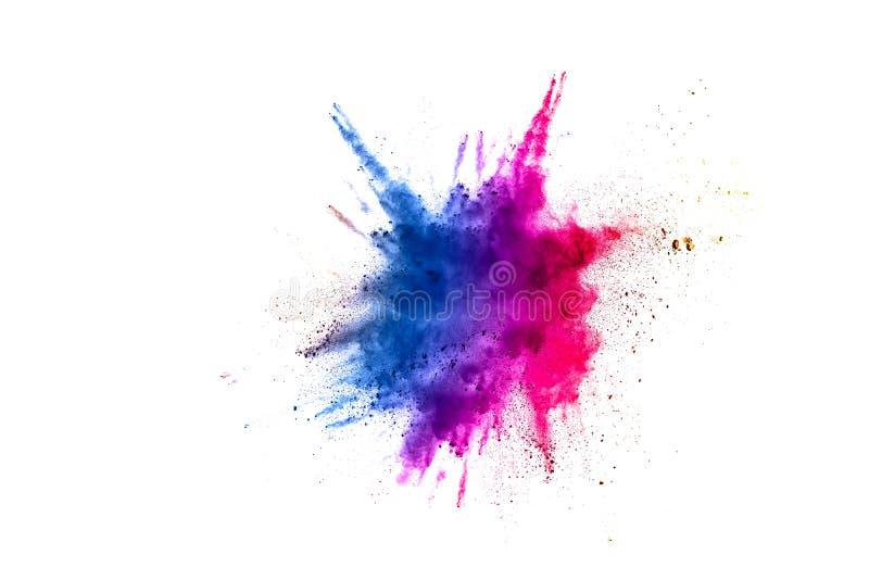 Abstraktes mehrfarbiges Pulver splatted lizenzfreie stockfotos