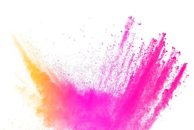 Abstraktes mehrfarbiges Pulver splatted lizenzfreies stockbild