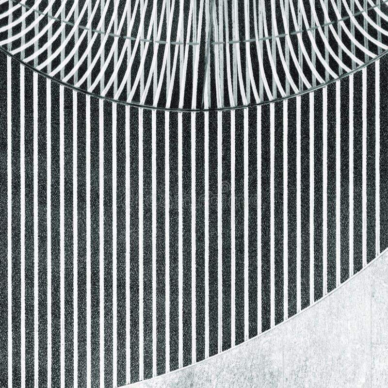 Abstraktes modernes Innenschwarzweiss-detail stockfoto