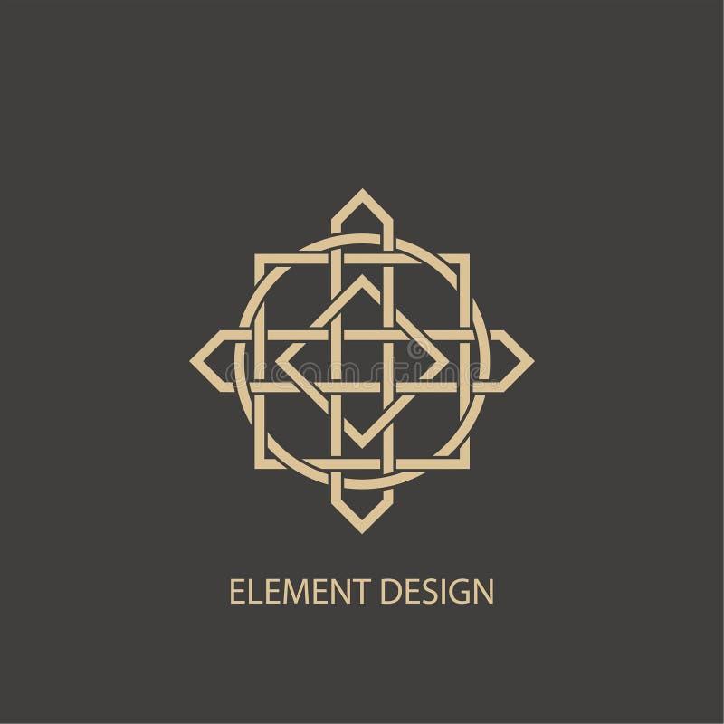 Abstraktes modernes Logo lizenzfreie abbildung