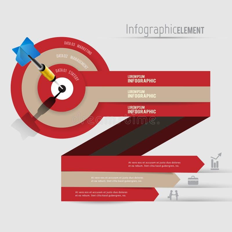 Abstraktes modernes Vektor-Fahne infographics der Schablone 3D Geschäft lizenzfreie stockfotos