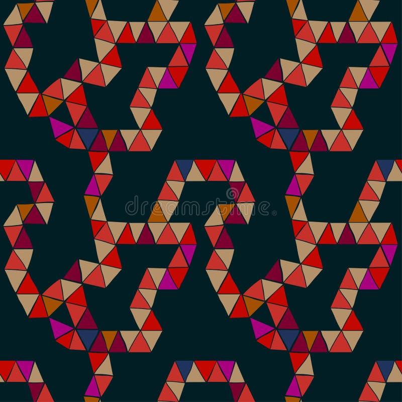 Abstraktes modulares Muster, Zahl gefaltet von den ungleichen Dreiecken vektor abbildung