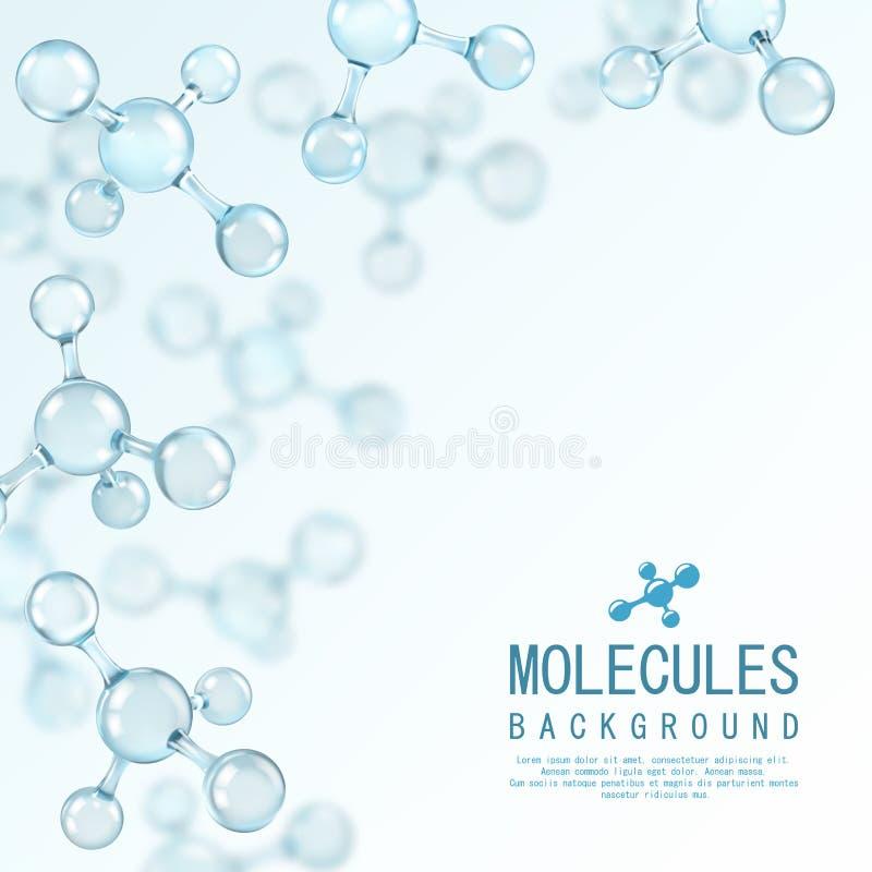 Abstraktes Moleküldesign atome Abstrakter Hintergrund für Fahne oder Flieger vektor abbildung