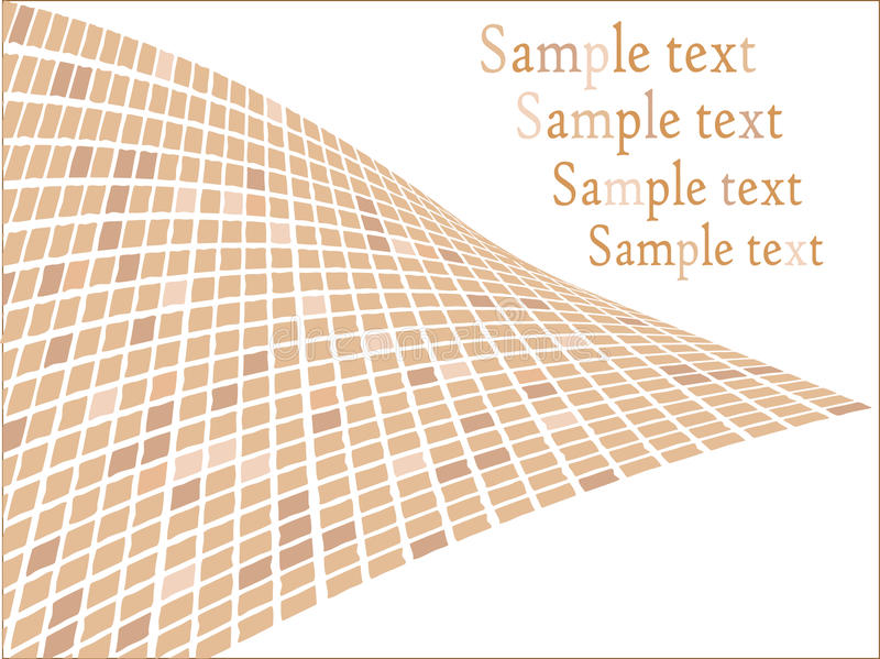 Abstraktes Mosaik stock abbildung