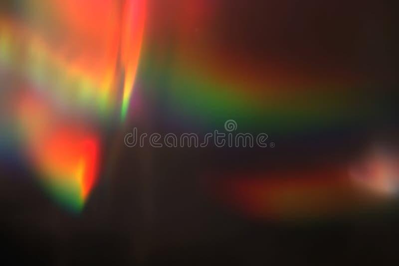 Abstraktes multi Farblichtimpuls und glüht Lecks bokeh Bewegungshintergrund stockfoto