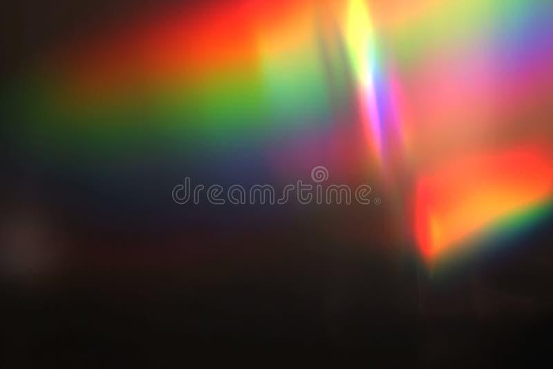 Abstraktes multi Farblichtimpuls und glüht Lecks bokeh Bewegungshintergrund, mit defocus bokeh lizenzfreie stockfotos