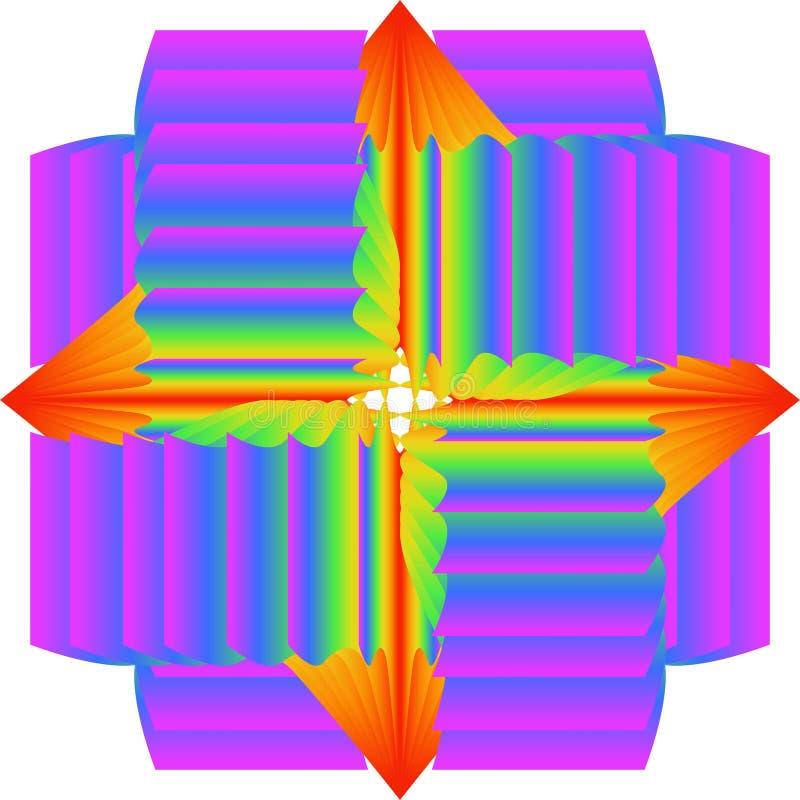 Abstraktes Muster der mehrfarbigen Beschaffenheit der Steigung Die Farben von ultraviolettem, blau, grün, gelb, orange, rot vektor abbildung