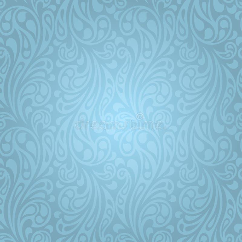 Abstraktes Muster der nahtlosen Wellen des Wasserspritzens stock abbildung
