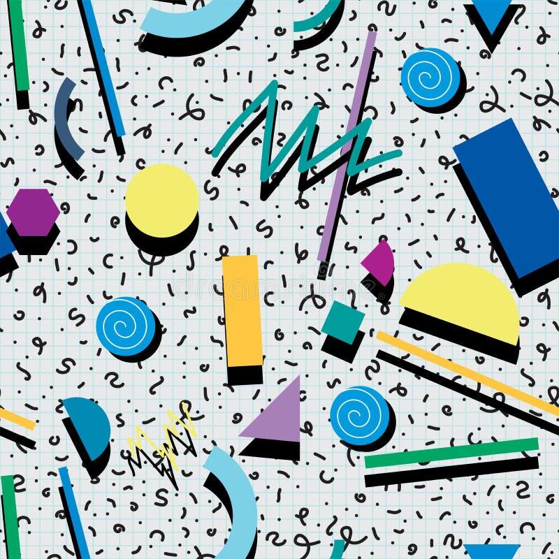 Abstraktes Muster des Hintergrundes 80s oder 90s vektor abbildung