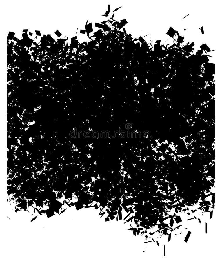 Abstraktes Muster des Schmutzes im Schwarzen über Weiß lizenzfreie abbildung