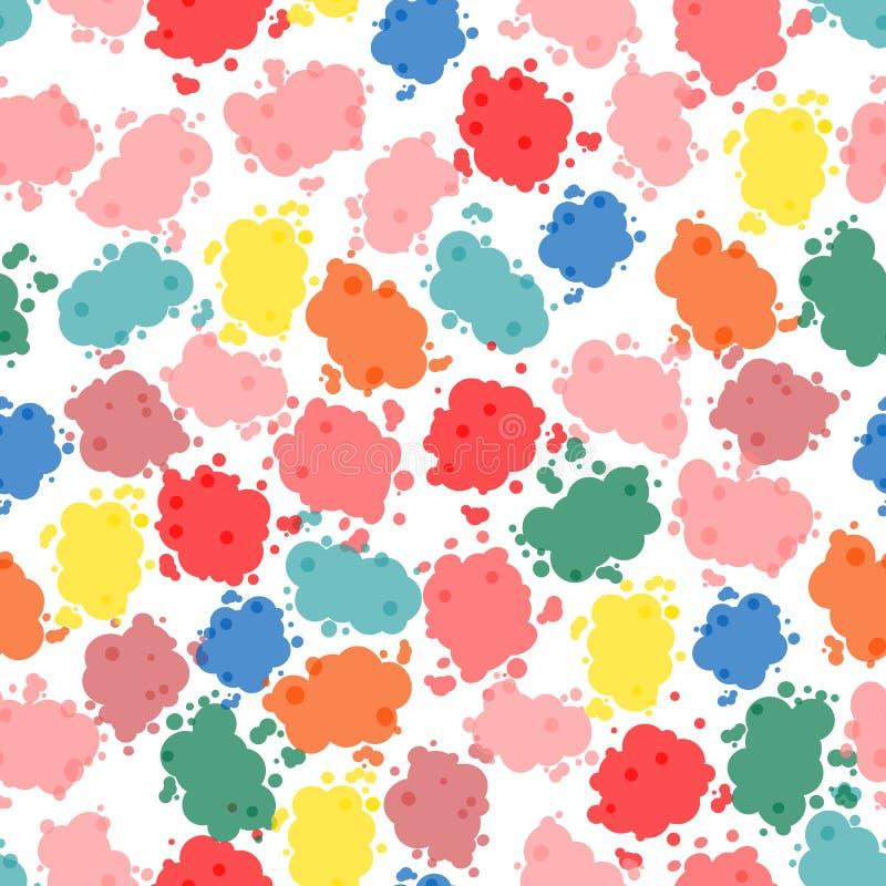 Abstraktes Muster Feuerwerksstellenhintergrund stock abbildung