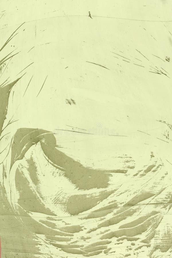 Abstraktes Muster gemacht vom Staub, auf einer gelben Wand Leerer Hintergrund, Beschaffenheit lizenzfreie stockbilder