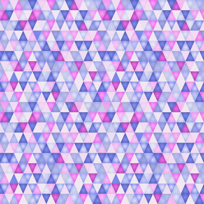 Abstraktes Muster mit Dreiecken im ultravioletten stock abbildung