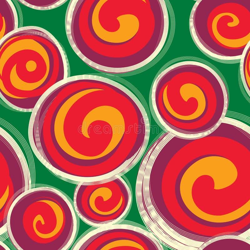 Abstraktes Muster mit Formen der runden Form im Retrostil nahtlos vektor abbildung