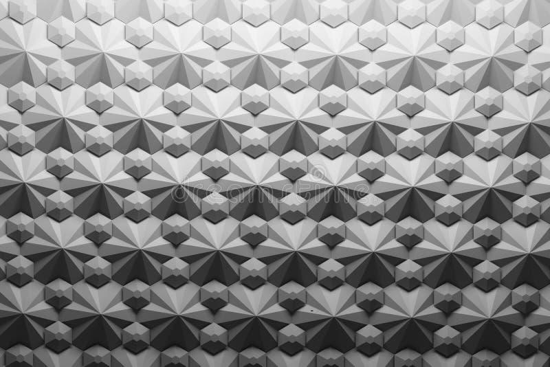Abstraktes Muster mit geometrischen Formpolygonen und -hexagonen vektor abbildung