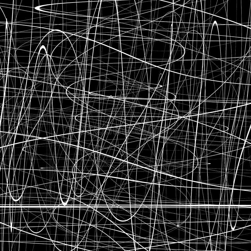 Abstraktes Muster mit squiggly, Squigglelinien Abstrakte Beschaffenheit stock abbildung