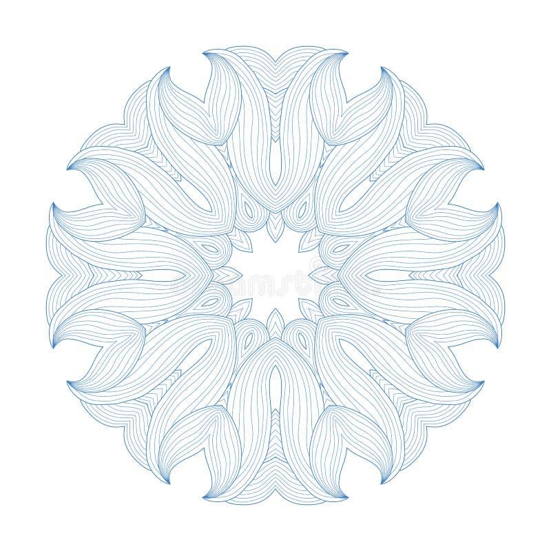 Abstraktes Muster Schöne Schneeflocke Dekorative Verzierung mandala Es kann für Leistung der Planungsarbeit notwendig sein stock abbildung