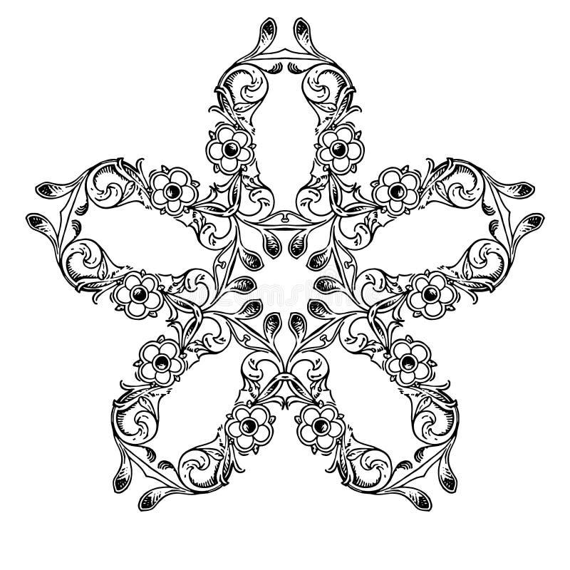 Abstraktes Muster Schwarzweiss-Bild stockbild