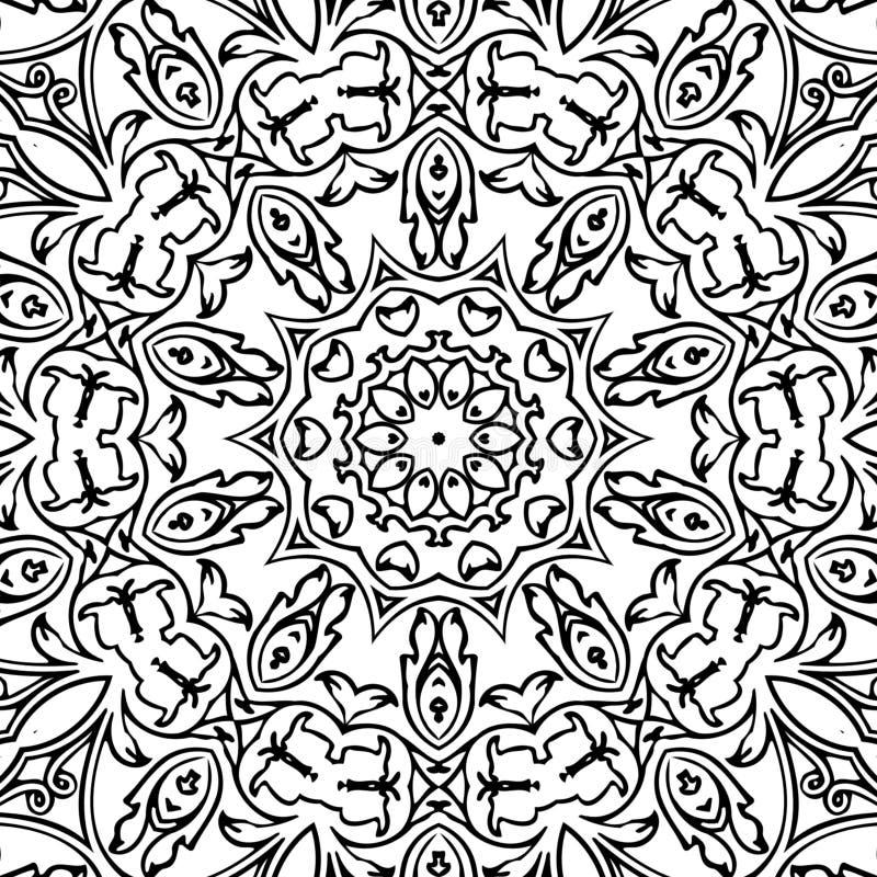 Abstraktes Muster Schwarzweiss-Bild stockfoto