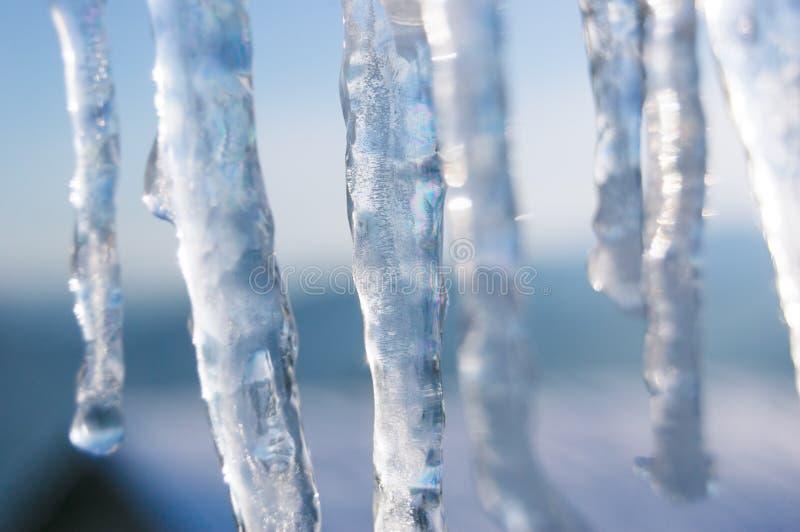 Abstraktes Muster von Eiszapfen stockbild
