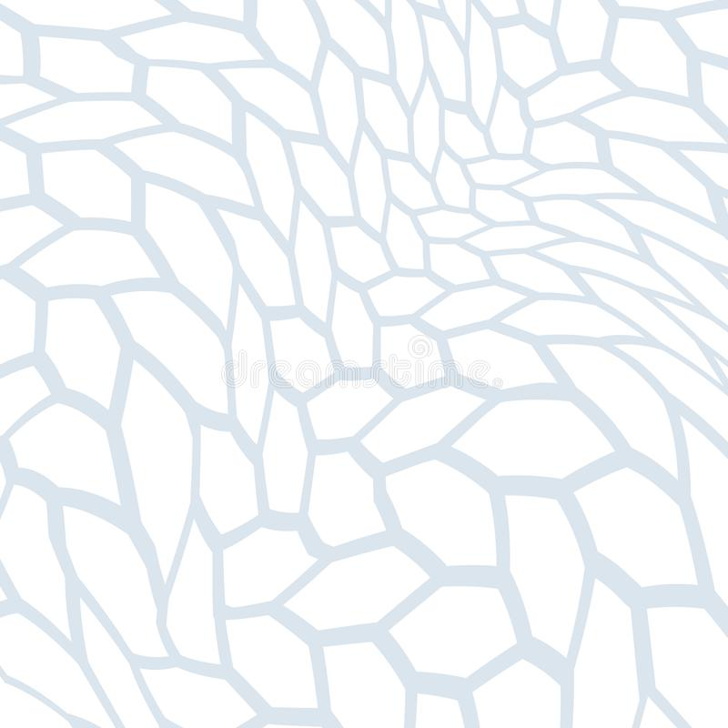 Abstraktes Muster von verzerrten Formen Die geometrische Bewegung von Wellen vektor abbildung