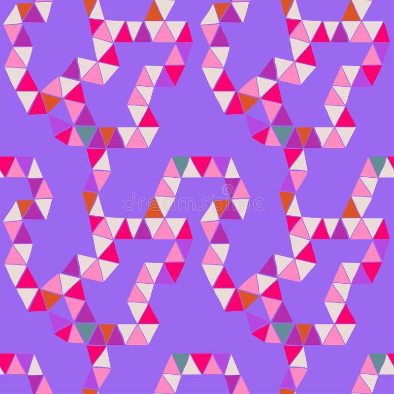Abstraktes Muster, Zeichnen gefaltet von einer Vielzahl von hellen Dreiecken vektor abbildung