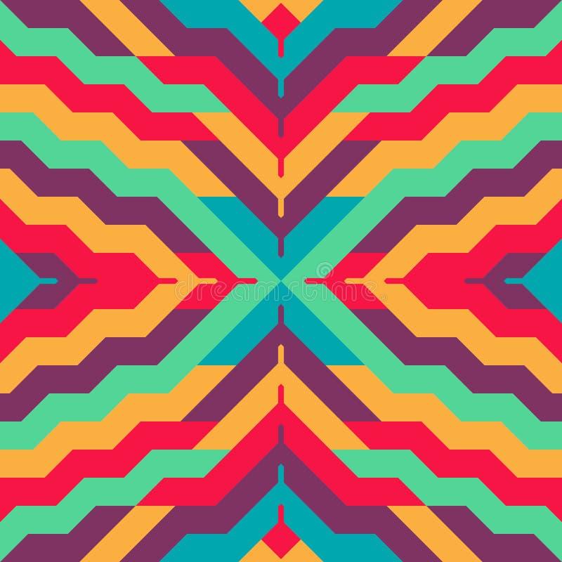 Abstraktes nahtloses abgestreiftes Muster für Textildesign stock abbildung