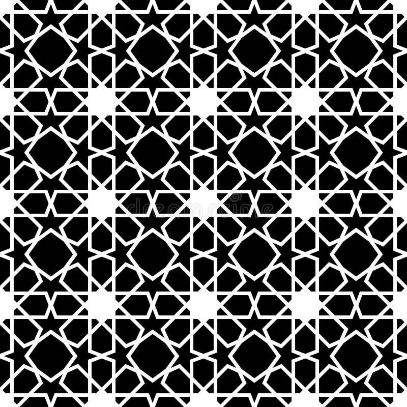 Abstraktes nahtloses geometrisches Muster stock abbildung