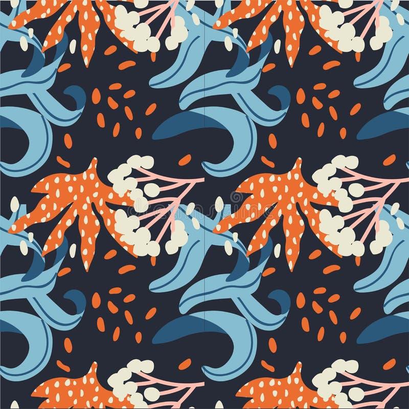 Abstraktes nahtloses mit Blumenmuster des Vektors Hintergrund f?r Papier, Abdeckung, Gewebe, Gewebe Rosa Blumen vektor abbildung