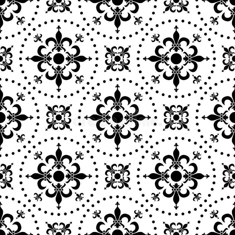 Abstraktes nahtloses Muster [1] lizenzfreie abbildung
