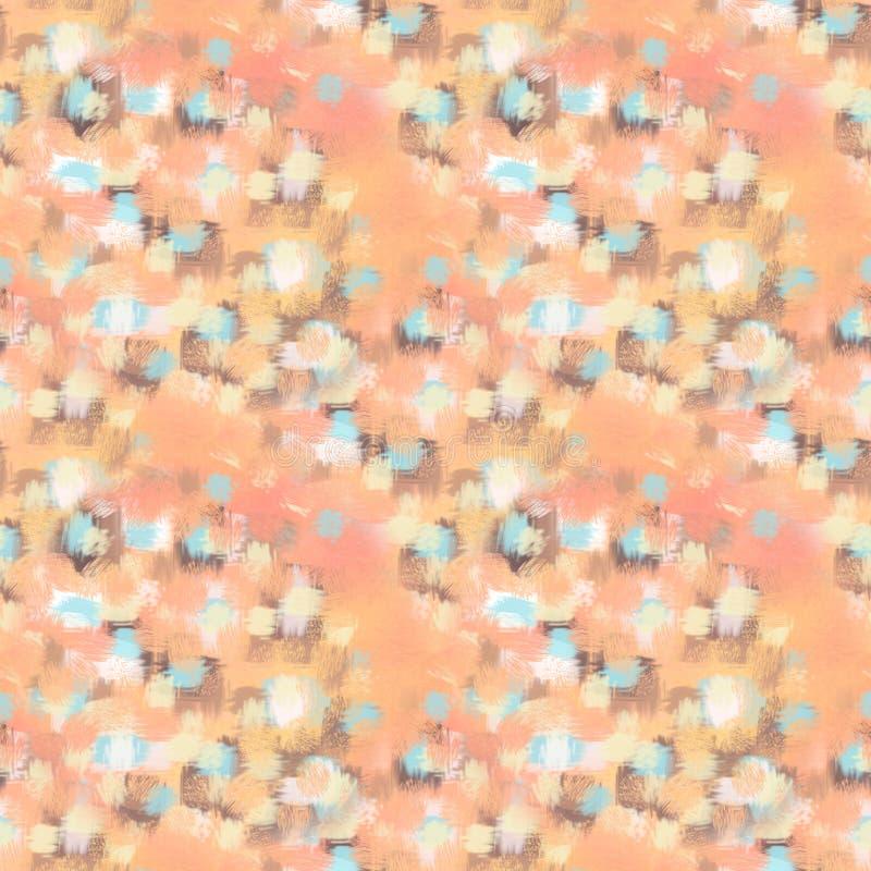 Abstraktes nahtloses Muster Beschaffenheit, Hintergrund und buntes Schmutzbild Abstrakte Pinsel-Anschläge lizenzfreie abbildung