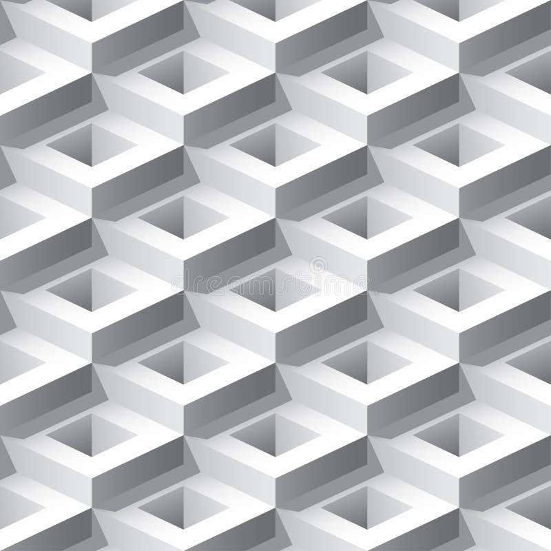 Abstraktes nahtloses Muster 3D lizenzfreie abbildung