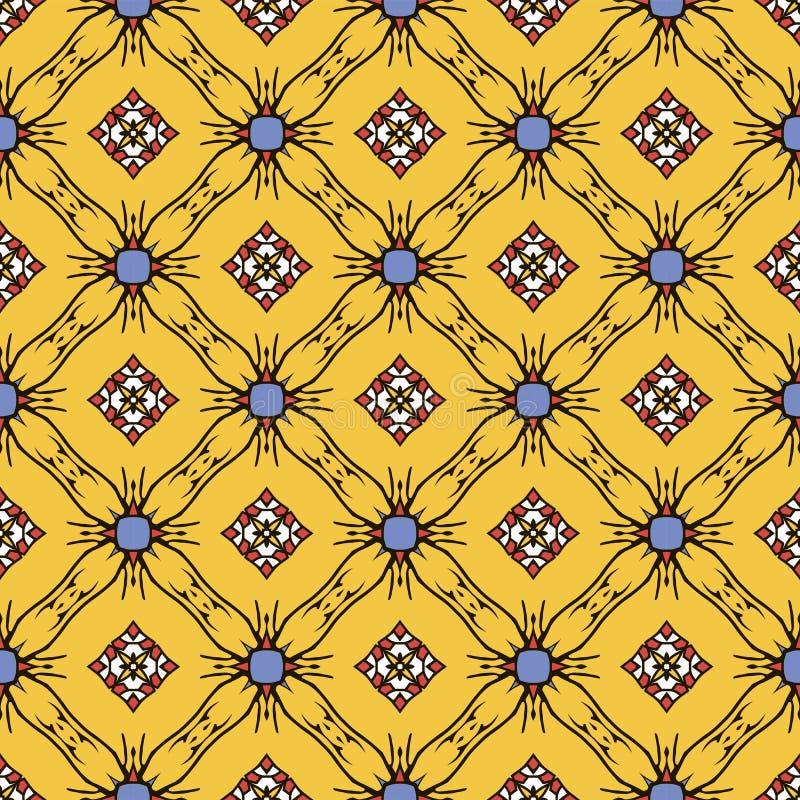 Abstraktes nahtloses Muster der gelben Farbe für Tapete und Rückseite stockfotos