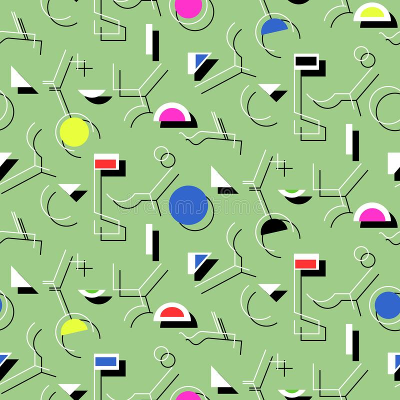 Abstraktes nahtloses Muster der Geometrie Linearer Motivhintergrund stock abbildung