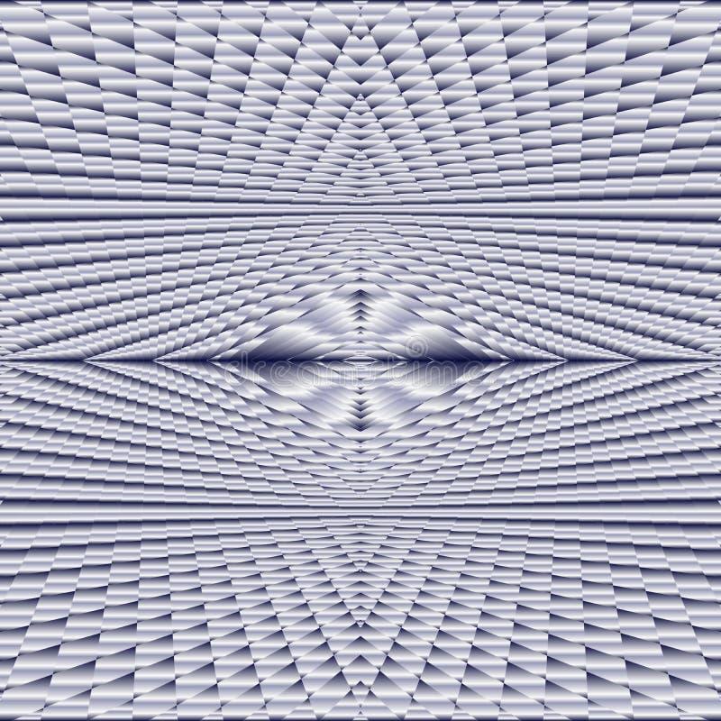 Abstraktes nahtloses Muster der komplexen metallischen überlagerten Oberfläche in der silbernen Farbe, Schwarzweiss-Hintergrundbe lizenzfreie abbildung